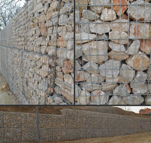 Mur en gabions réalisé par TP66 à Canet en Roussillon